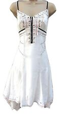 NEW Karen Millen Dress Ivory White Sequin Summer Broderie Embroidered Size 8 36