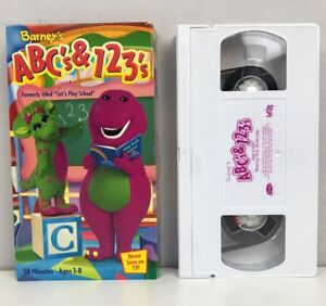 Barneys Abcs 123s Vhs Video Tape Lyrick 2068 Was Lets Play
