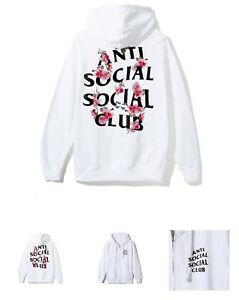 5325e3f364ef Image is loading Anti-Social-Social-Club-Kkoch-White-Zip-Hoodie-