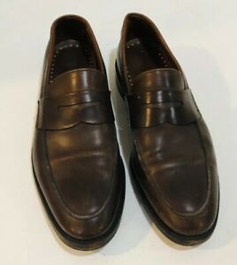 Brooks Brothers Mens Penny Loafer Brown Leather 10 D Made ...