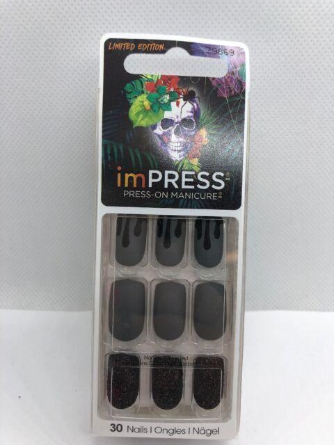 Kiss imPRESS Press-On Nails, Dark Night, Limited Edition ...