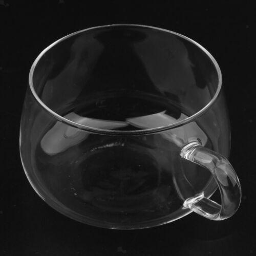 Heat Resistant Double Wall Layer Clear Glass Tea Coffee Cups Mug Handmade
