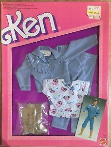 Barbie Mattel Jeans Look Fashions Outfit Ken Vintage 87 '