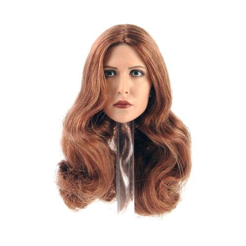 """1//6 Elizabeth Olsen Scarlet Witch Head Sculpt Carved F 12/"""" Female Action Figure"""