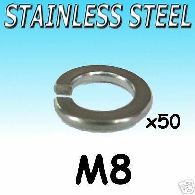 Stainless Steel SPRING WASHERS M8 Marine Boat etc 50pk