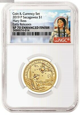 2019 P Enhanced Mary Ross Sacagawea Dollar $1 NGC SP 70 Early Release IN HAND