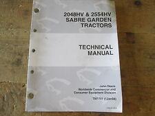 Used John Deere/Sabre Garden Tractors 2048HV, 2554HV, TM1741