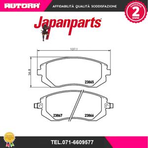 PA599AF-Kit-pastiglie-freno-Mitsubishi-Pajero-II-06-94-gt-MARCA-JAPANPARTS