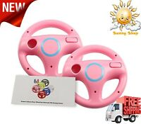Mario Kart Racing Wheels For Wii 2 Pieces For Racing Games Pink