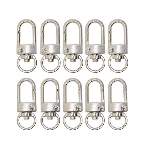 10pcs Bag Clasps Lobster Swivel Trigger Clips Snap Hook For Handbag Keychain