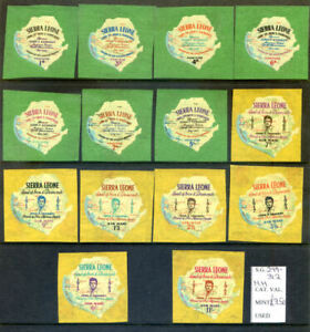 Sierra Leone 1964 to 1966 fine unmounted mint run of 4 sets (2021/01/12#03)