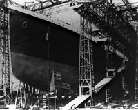 8x10 Photo: White Star Ocean Liner Rms Titanic During Construction, 1911