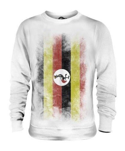 Uganda Sbiadito Bandiera Unisex Maglione Ugandese Maglia Calcio Jersey Regalo