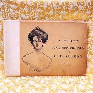 Details about Charles Dana Gibson A widow and her friend 1901 with  autograph of the artist
