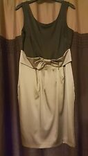Gorgeous Black & Beige Fitted Dress Size 14 from Next