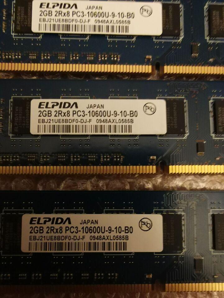 Elpida, 4x2 gb, DDR3 SDRAM