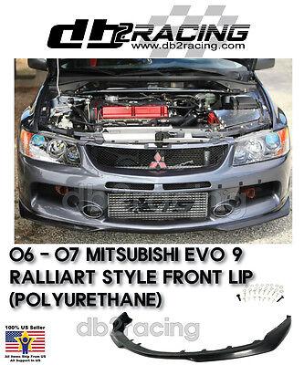 Ralliart Style Front Bumper Lip Urethane Fits 06-07 Mitsubishi EVO 9
