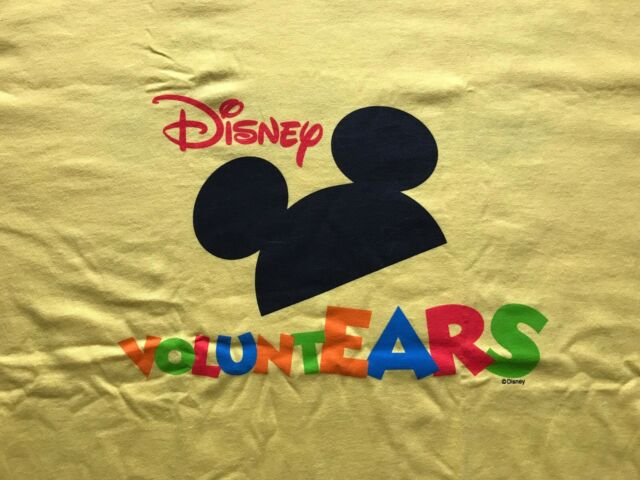 DISNEY T SHIRT YELLOW VOLUNTEARS MICKEY MOUSE NEW WITHOUT TAGS TEE SIZE 2XL