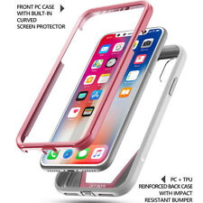 Poetic Guardian Series Rugged Clear Hybrid Bumper Case for iPhone X Pink