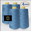 4 PACK of 6000 Yard each Spools Sewing Thread All Purpose 100/% Polyester