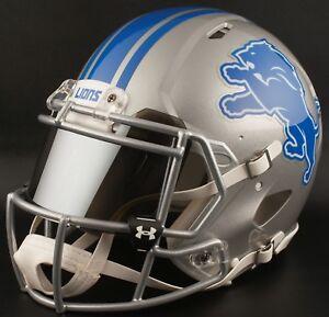 CUSTOM-DETROIT-LIONS-Full-Size-NFL-Riddell-SPEED-Football-Helmet