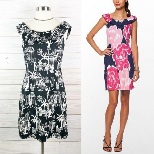 Lilly Pulitzer Dress Dominica Late Night Toile 2