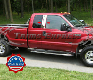 1999-2010-Ford-F-250-F-350-Super-Duty-Super-Extended-Cab-Chrome-Pillar-Post-Trim