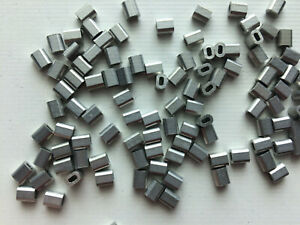10x Aluminium Crimp Ferrules for 5mm Steel Wire Rope Stainless Rigging