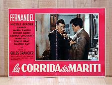 LA CORRIDA DEI MARITI fotobusta poster FERNANDEL BERGER GRANGIER BR45