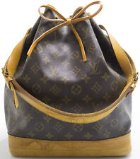 Louis Vuitton Monogram Sac NOE Shoulder Bag Tasche Schultertasche Patina MUST