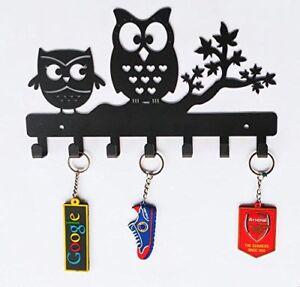 Wall Mounted Owl Duo Metal Key Holder Steel Key Rack Wall Decor Keys Holder Ebay