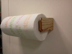 Image Is Loading Solid Oak Paper Towel Holder Wall Or Under