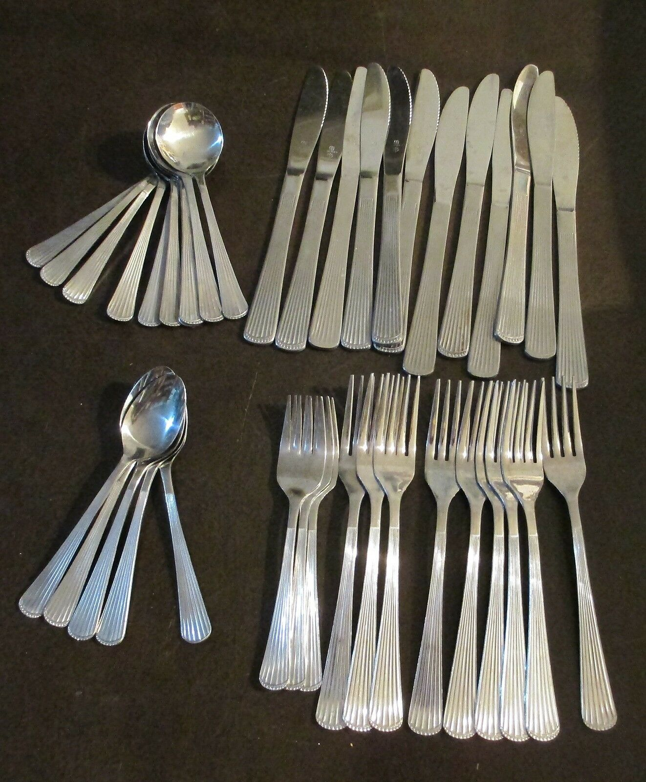 Wallace Brand Ware Stainless Flatware Galaxy Part Set of 39