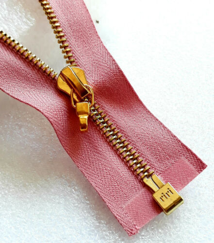 Cerniera rosa antico 2420 RIRI dimensioni m4 DIVISIBILE METALLO YKK zip cipzár МОЛНИЯ