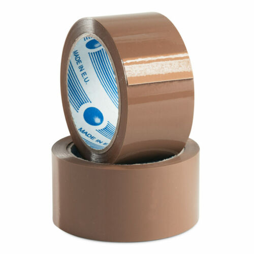 6 x Rolls Premium NATURAL RUBBER Sticky Adhesive Packaging Packing Tape 48mmx75M