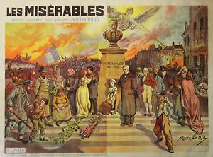 034-LES-MISERABLES-034-Affiche-originale-entoilee-1912-Albert-CAPELLANI-Victor-HUGO