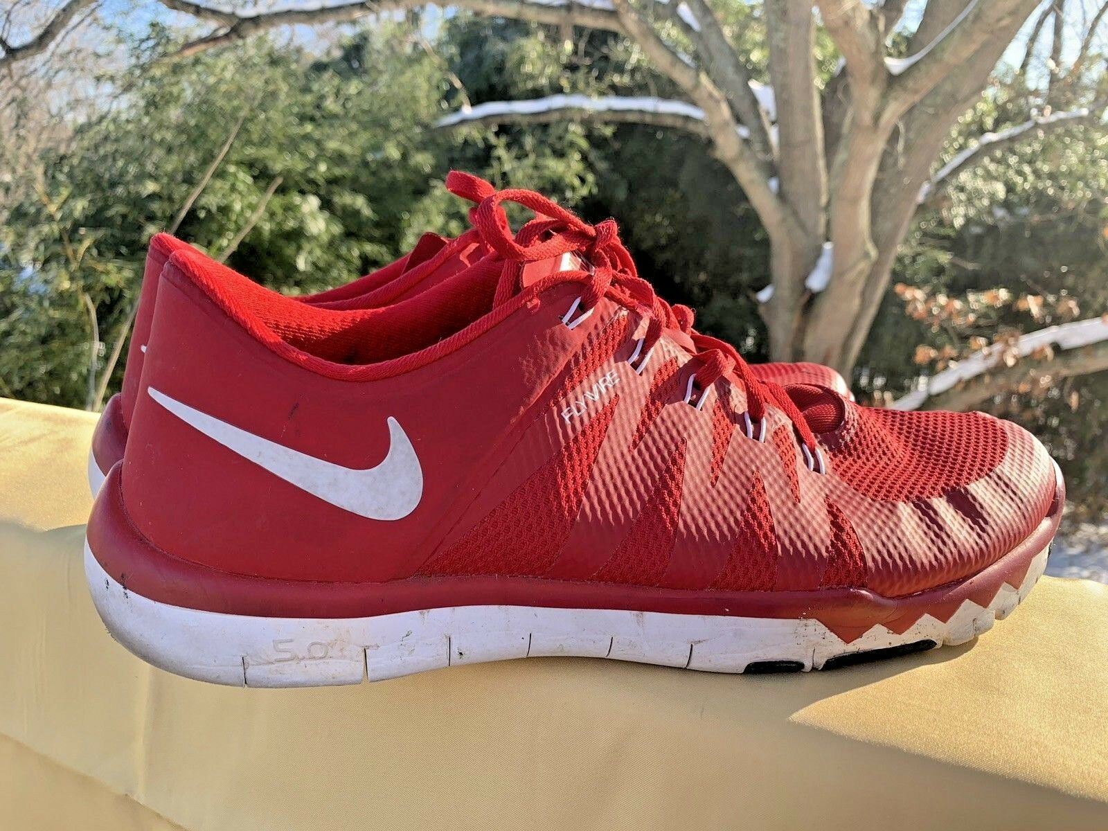 NIKE FREE 5.0 TRAINER NO AIR LUNAR FLYKNIT Louisville Cardinals RED Sz 13 b7