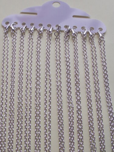 "UK Jewellery 130 Pieces of 18/"" x 2mm Silver Trace Necklace Pendant Locket Chains"