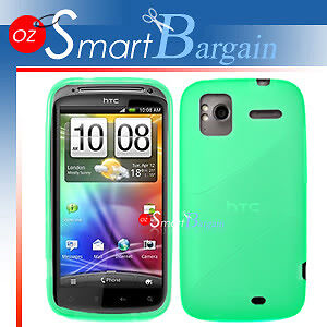 New-Green-Soft-Gel-TPU-Cover-Case-For-HTC-Sensation-XE-Screen-Protector