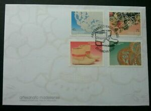 SJ-Portugal-Handicrafts-1994-Art-Flower-Shoe-Pattern-stamp-FDC