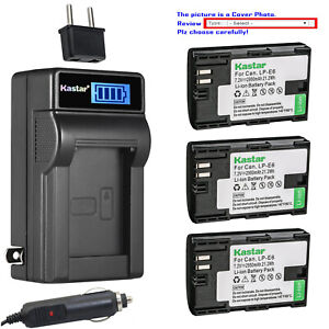 Kastar-Battery-LCD-AC-Charger-for-Canon-LP-E6-LP-E6N-LC-E6-Canon-EOS-5DS-Camera