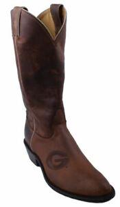 Nocona-7LDUG001-Womens-University-Of-Georgia-Brown-Cowhide-Branded-College-Boots