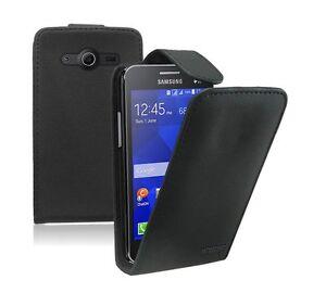 sale retailer 4286b b2c34 Details about Leather Mobile Phone Samsung Galaxy Core 2 - Flip Case Cover  Pouch