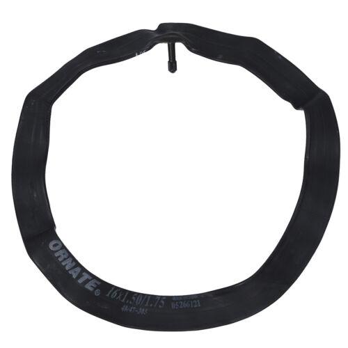 Bike Bicycle Schrader Valve Black Rubber Inner Tube 16 x1.50//1.75 FP