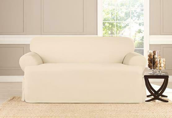 Cotton Duck Sofa T Cushion Slipcover