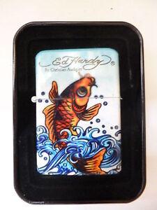Ed-Hardy-Gasfeuerzeug-mit-Jetflame-KOI-FISH-69501