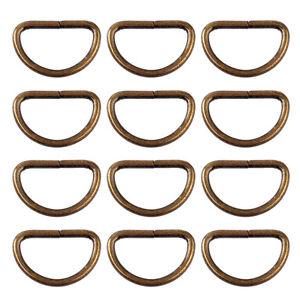 25x Metall Antik Accessery D Ring Rund Gürtel Zubehör Praktisch Sattler Zubehör