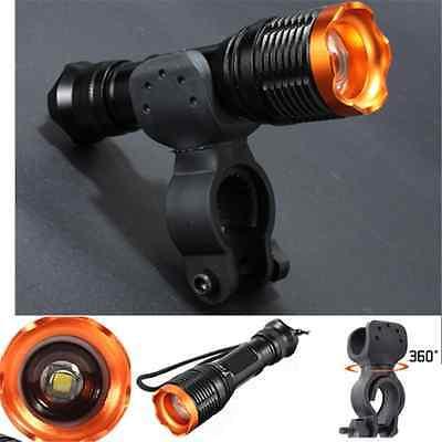 12W 2500LM XML T6 ZOOMABLE Fahrrad Lampe Flashlight Handlampe mit Halterung