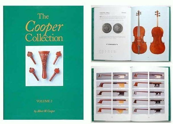Albert Cooper Collection rare Violins purples Celli Bows French English book