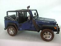 Vintage Wrangler Jeep /large Tin Plate Model /ornament /gift/ Blue